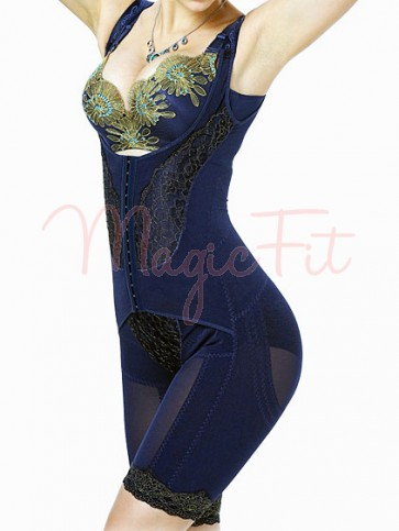 Royal BLUE Luxury Fat Burning Day/Night 4-in-1 Boob Lifter Waist Slimmer Bum Lifter Thigh Slimmer Bodysuit