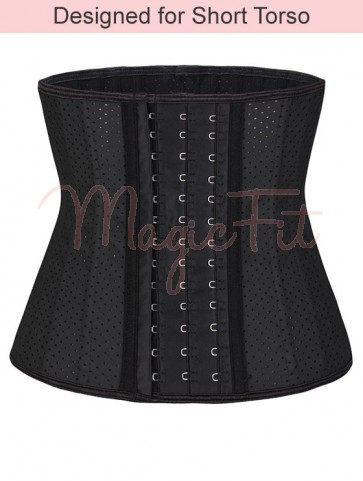 Short Torso Breathable Latex Waist Trainer with 25 Steel Bones