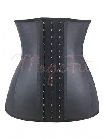 Sports Safe Raw Latex Extra Fat Burning Waist Trainer with 9 Spiral Steel Bones