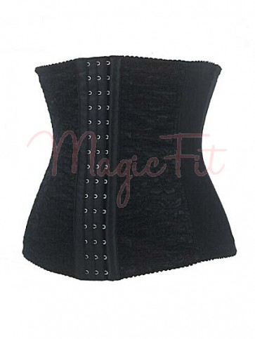 Hourglass Creator Spiral Steel Boned Waist Trainer with Lace Overlay