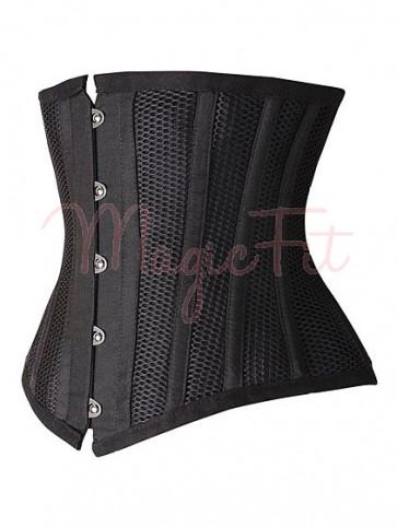 Steel Boned Hourglass Creator Ultimate Waist Training Cincher - Black