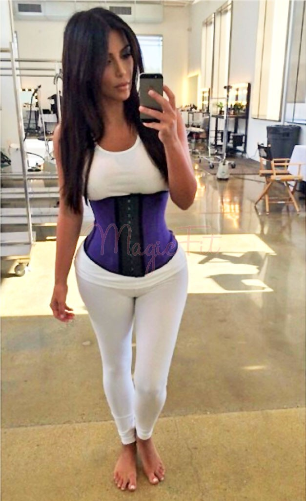 b612c7246ed Kim Kardashian Hi-Tech Fat Burning Latex Sports Waist Training Corset