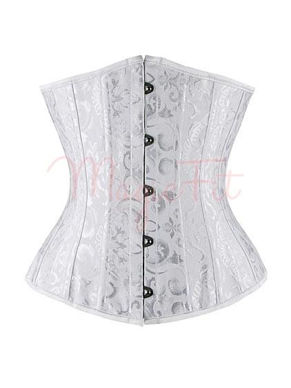 Perfect white brocade underbust waist slimming bridal for White corset under wedding dress