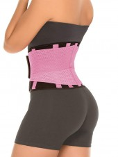 Breathable Hourglass Waist Trainer Stomach Wrapping Belt - Pink