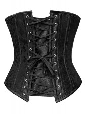 Elegant Black 26 Steel Boned Heavy Duty Waist Training Cincher Hourglass Creator