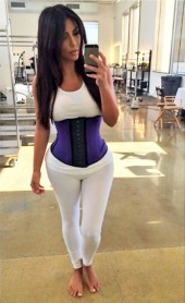 Kim Kardashian Hi-Tech Fat Burning Latex Sports Waist Trainer