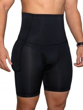 Mens Padded Butt Lifter Tummy Trimmer Shorts
