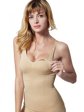 3-in-1 Seamless Waist Shaping Cami with Built-in Nursing Bra