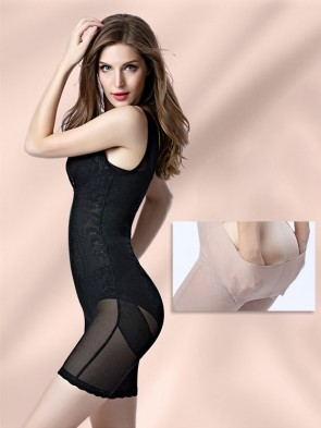 4 in 1 Micro Mesh Waist Slimmer Push-Up Bodysuit with Thigh Slimmer and Butt Lifter