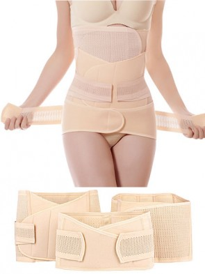 Complete Set of 3 - Stomach Flattening Waist Trainer and Pelvic Ligaments Support