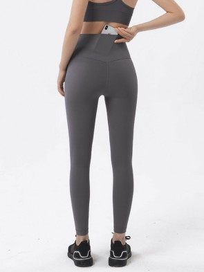 High Performance Seamless Sports Leggings with Back Pocket