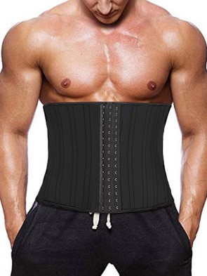 Men's Raw Latex Waist Trainer with 25 Steel Bones