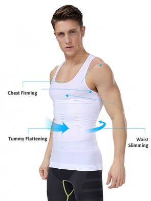 Mens Tummy Flattening Waist Slimming Singlet