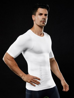 Mens Tummy Flattening Posture Correction T-Shirt