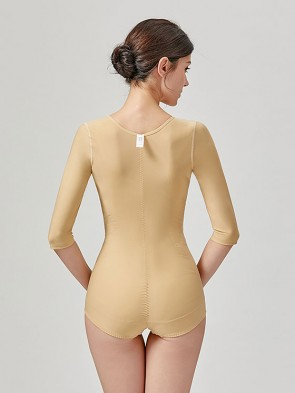 Stage 1 Liposuction Surgery Recovery Medical Compression Shapewear Bodysuit with Sleeves