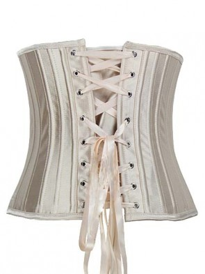 Under Bust Waist Trainer Hourglass Creator Corset - 24 Steel Bones with Full Lace-up Back