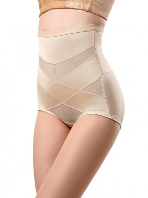 Super Breathable Seamless High Waist Ultra Tummy Flattening Recovery Shorts - Nude