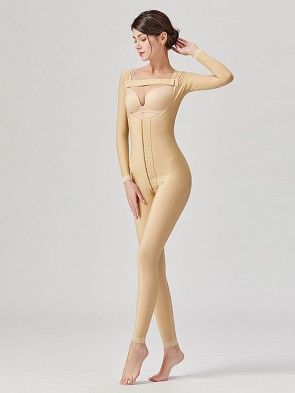 Stage 2 Surgical Recovery Anti Bacterial Medical Compression Shapewear Full Bodysuit