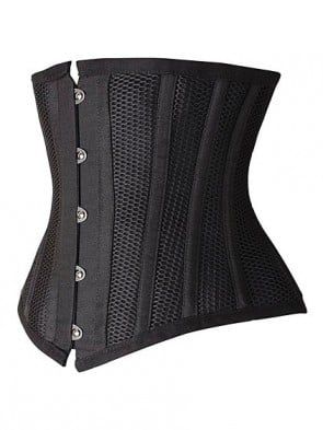 Steel Boned Hourglass Creator Ultimate Waist Training Cincher - Black