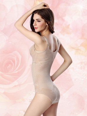 Zero Pressure Super Breathable Waist Slimmer Foundation Bodysuit Nude