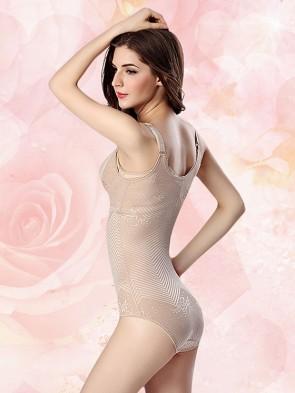Zero Pressure Super Breathable Waist Slimmer Foundation Bodysuit Nude