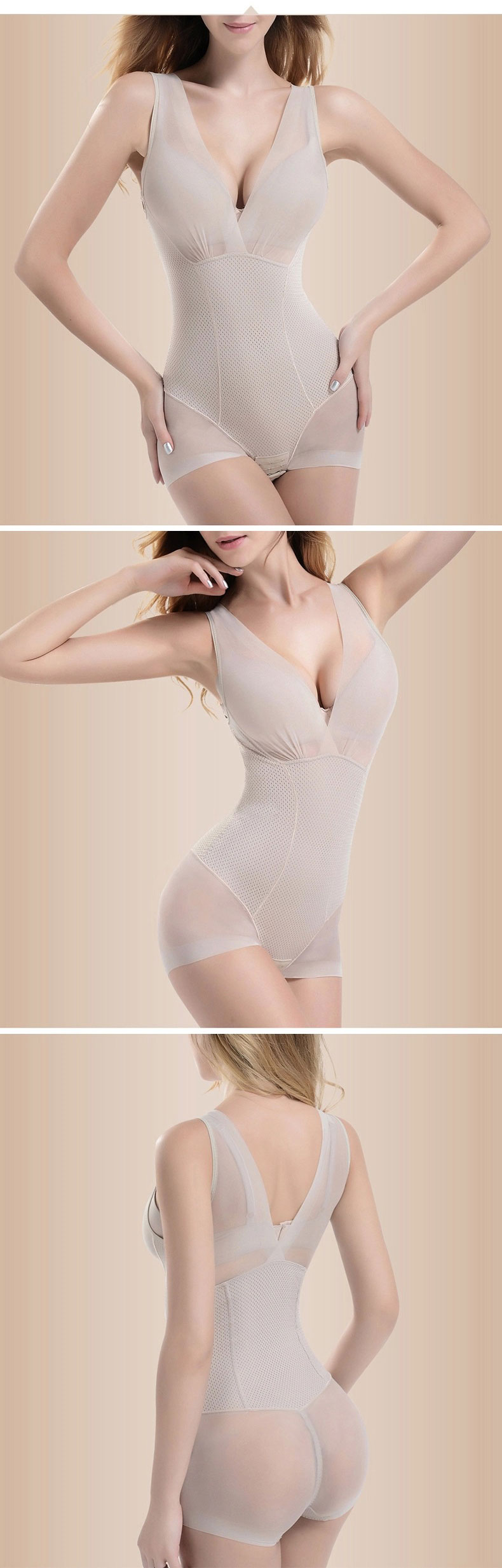 3-in-1 Award Winning Ultra Tummy Flattening Super Waist Slimmer Bust Lifting Seamless One Piece Bodysuit 3