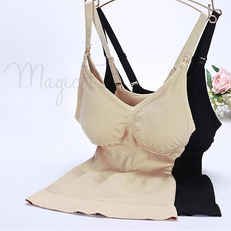 waist shaping cami with nursing bra