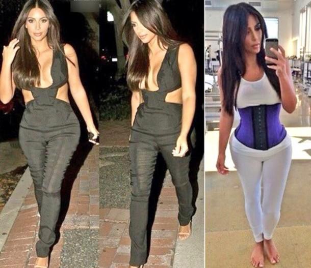 kim kardashian waist training corsets