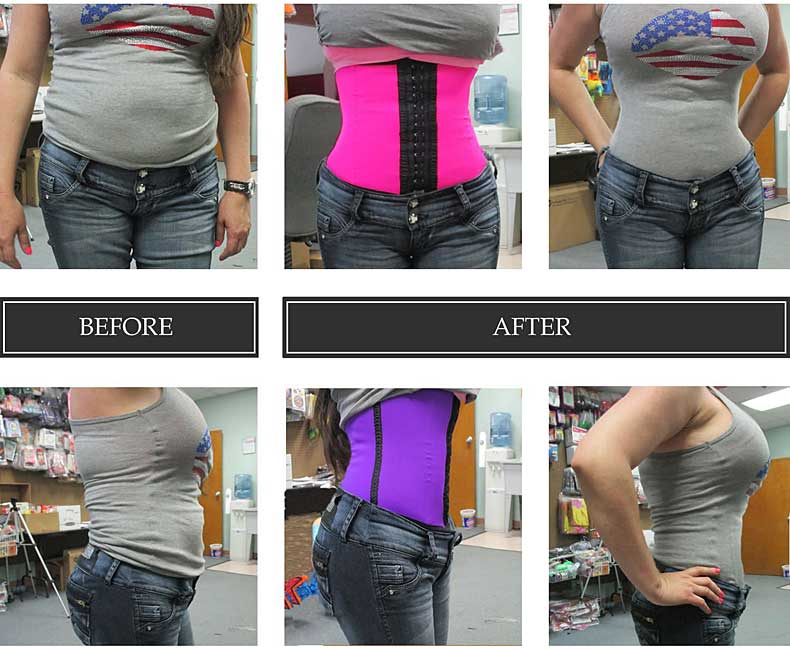 MagicFit Waist Trainer Before After Picture