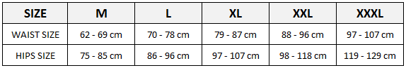 micro mesh bodysuit size chart