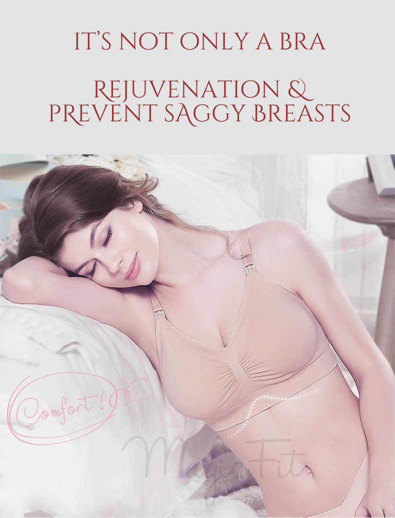Rejuvenation Antibacterial Seamless Maternity Nursing Bra2