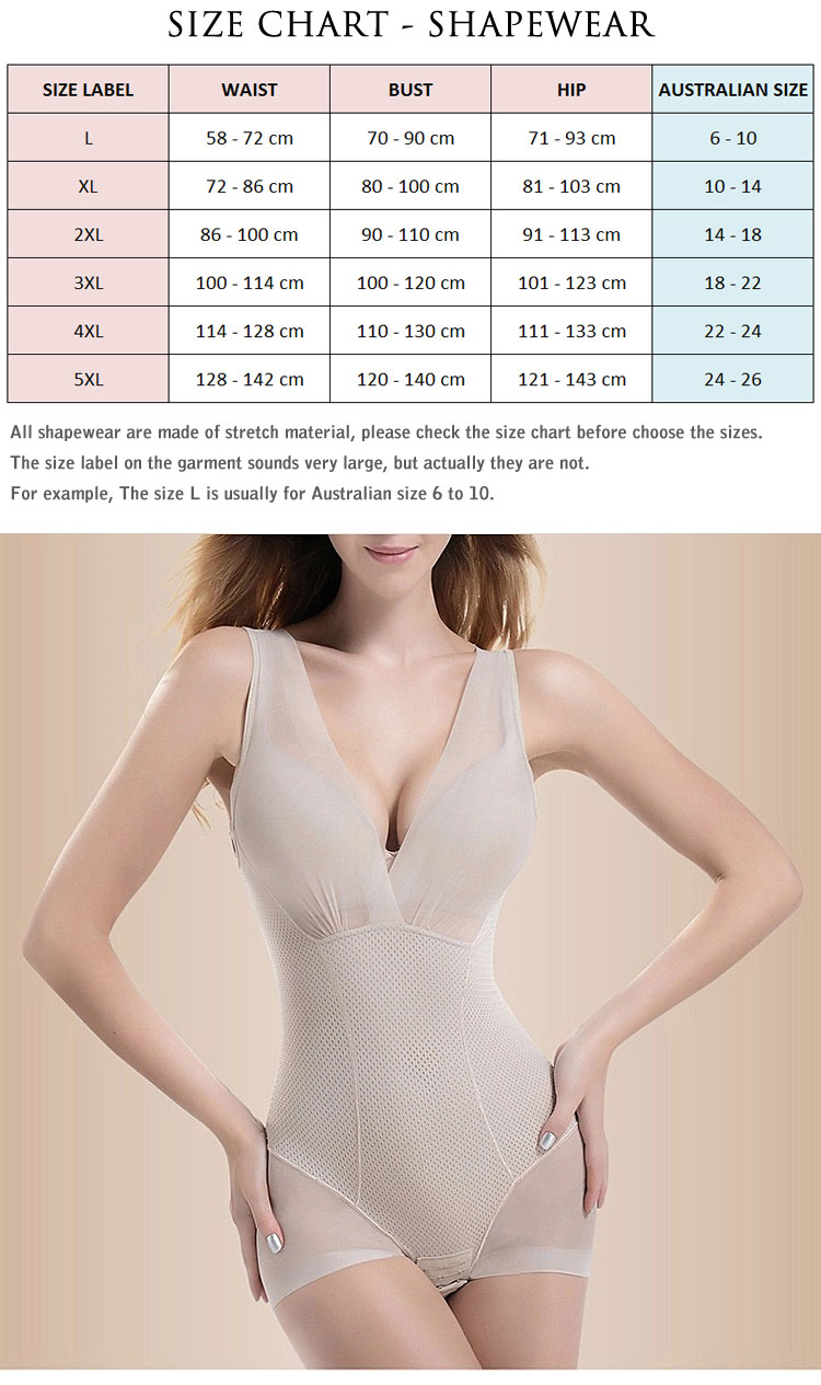 2bc56dd462254 Waist Trainer Size Chart - Waist Training Products Australia   NZ