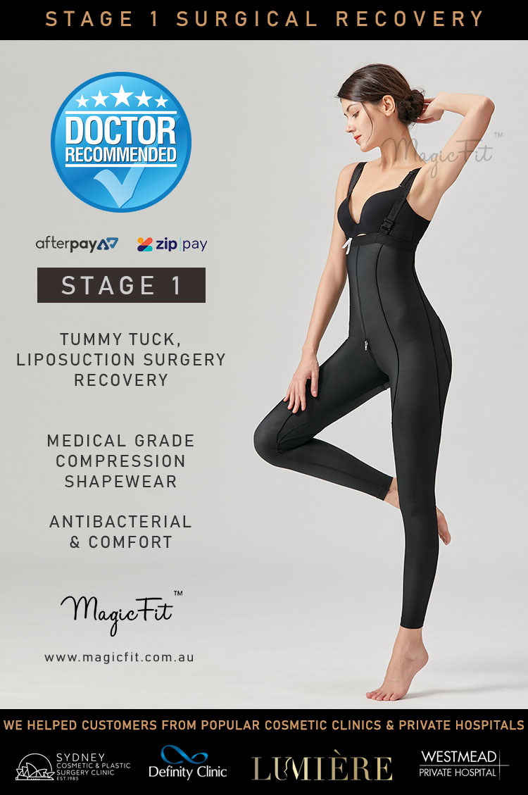 Stage 1 Surgical Recovery Medical Compression Shapewear Full Leg Bodysuit