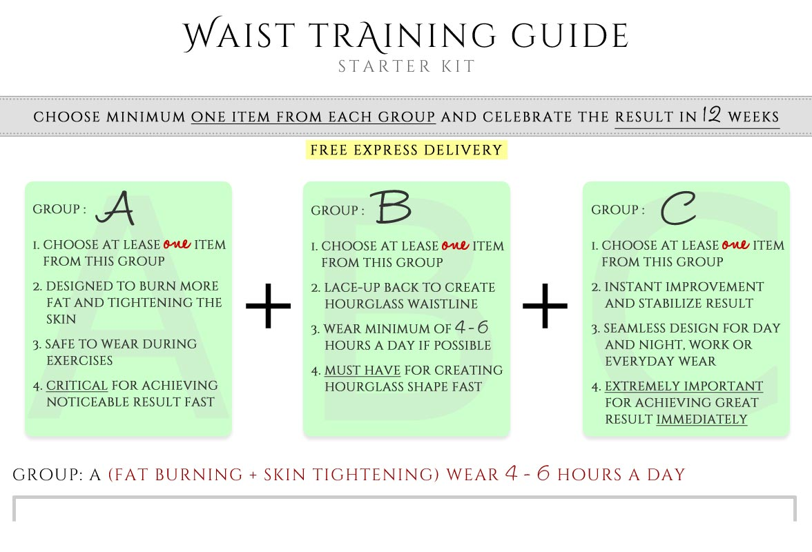 MagicFit Waist Training Starter Kit